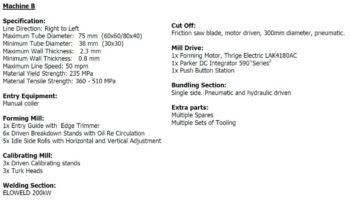 1996/2007- 48/76/2,5 – GUZZETI – PIPE PRODUCTION LINE full